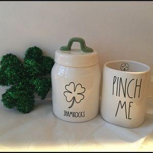 Rae Dunn St. Patrick's Day Shamrock Canister & Mug